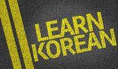Learn Korean written on the road