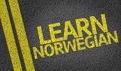 Learn Norwegian written on the road
