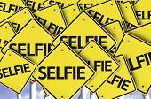 Selfie written on multiple road sign