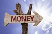pic of money prize  - Money wooden sign on a beautiful day - JPG