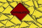 picture of non-toxic  - Phthalates written on multiple road sign  - JPG