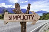 picture of humility  - Simplicity wooden sign with a street on background  - JPG