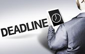 Business man with the text Deadline in a concept image
