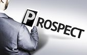 Business man with the text Prospect in a concept image