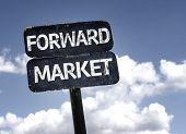 Forward Market sign with clouds and sky background