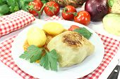 Stuffed Cabbage With Potatoes And Parsley