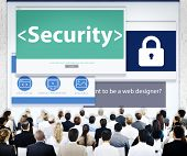 Business People Security Web Design Concept