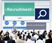 Business People Recruitment Web Design Concept