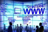 World Wide Web Global Connection Data Internet Concept