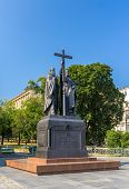 Monument To Kirill And Mefodiy In Moscow, Russia