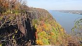 Cliff and Hudson river