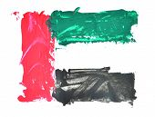 An abstract painting with UAE flag colors. vector illustration