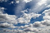 stock photo of stratus  - Wide angle sky and clouds scape view - JPG
