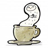 cartoon ghost in a teacup