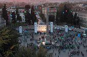 Demonstration In Piazza Del Popolo, Rome