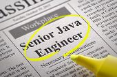 Senior Java Engineer Vacancy in Newspaper.