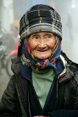 Portrait of old Black Hmong woman in Vietnam.