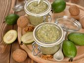 Crude Jam Of Feijoa And Walnuts