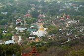 Top View Of Myanma Temple In Mandalay, Myanmar.