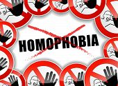 pic of transgendered  - illustration of no homophobia abstract concept background - JPG