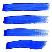 Vector illustration of Blue ink vector brush strokes