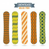 Girlish Prints For Snowboards