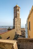 Bell Tower Of Cathedral Sant Antonio Abate In Castelsardo