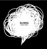 Scribble white bubble