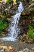 Small Waterfall In Val Di Pejo