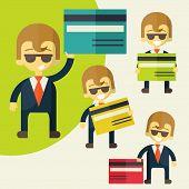 Businessman credit card