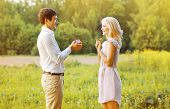 image of propose  - Love couple date wedding concept  - JPG