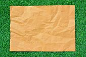 Brown Paper On Green Grass