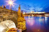 Charles Bridge, Moldau River, Lesser Town, Prague Castle, Prague (unesco), Czech Republic