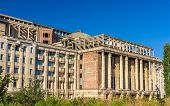 stock photo of academia  - Unfinished part of Romanian Academy Palace  - JPG