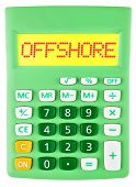 Calculator With Offshore On Display Isolated