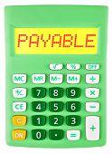 Calculator With Payable On Display