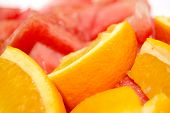 fruits: orange and watermelon