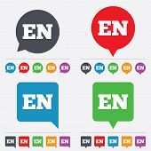 Vector English language sign icon. EN translation.