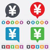 Yen sign icon. JPY currency symbol.