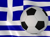 greek flag and football