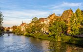 View Of Embankment In Strasbourg - Alsace, France