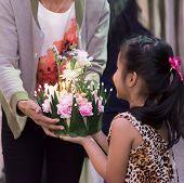 Children Hold Flora Basket (krathong)