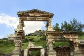 Ancient Trajan fountain in Ephesus, Turkey
