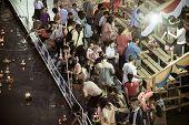 People Around  Loi Krathong Festival  In Thailand