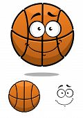 Basketball ball character with a cute face