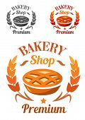 Premium Bakery Shop emblem or badge