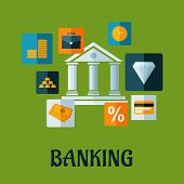 Banking flat infographic design