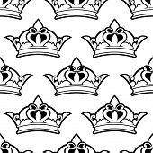 Royal crown seamless pattern