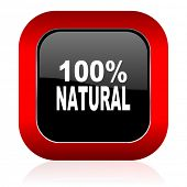 foto of 100 percent  - natural icon 100 percent natural sign  - JPG