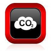 image of carbon-dioxide  - carbon dioxide icon co2 sign  - JPG